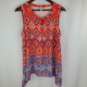 Dana Buchman diamond print top size L